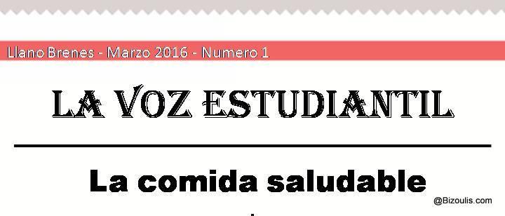 """""""La Voz Estudiantil"""" première édition"""